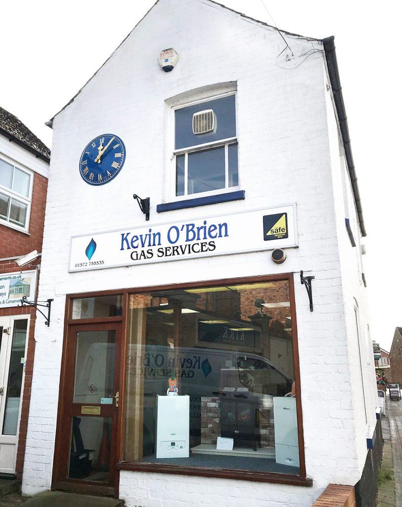 Kevin O'Brien Gas Services shop front Oakham